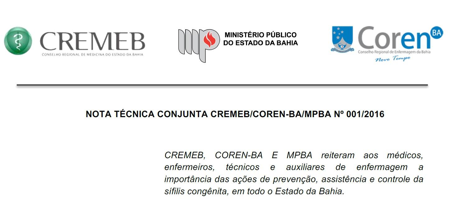 3a0648ff7ed5d A situação da sífilis no estado da Bahia foi assunto de uma importante nota  técnica conjunta assinada com a participação do Ministério Público do  Estado da ...